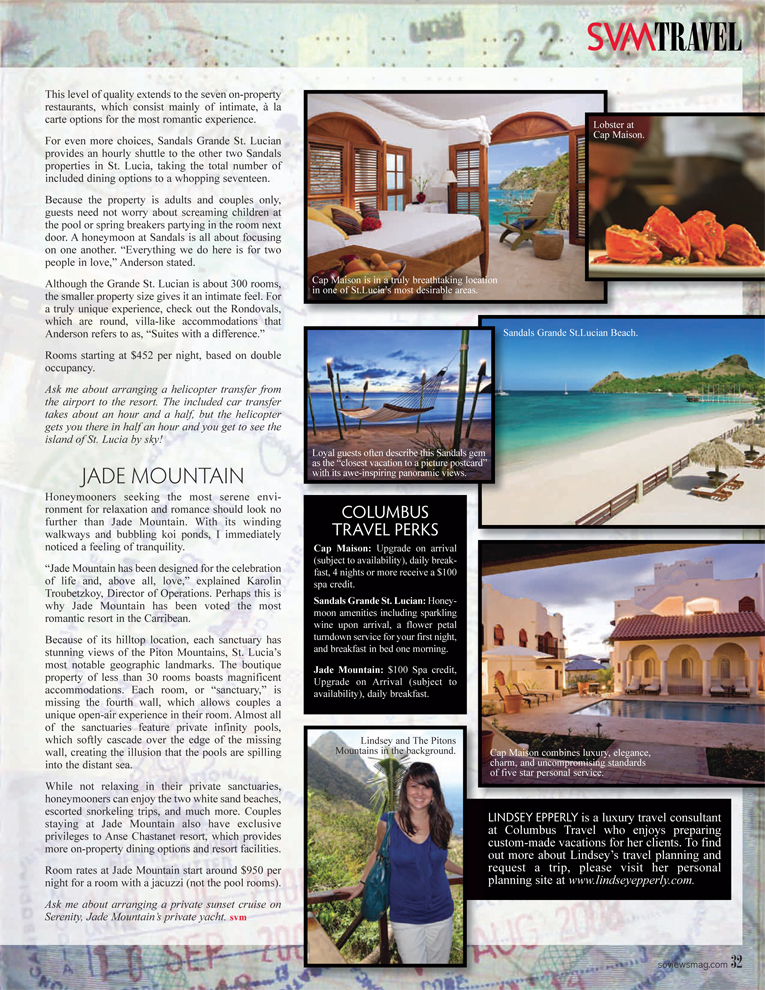 Honeymoons in St. Lucia (Featuring Sandals Grande St. Lucian and ...