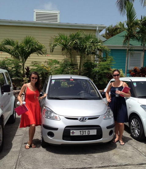 Me & Laura and the vehicle that almost single-handedly destroyed all of St. Barth's